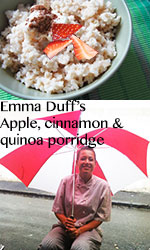 Apple, cinnamon & quinoa porridge