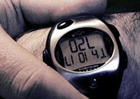 Photo of a heart rate monitor watch