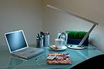 Photo: Laptop on a desk.